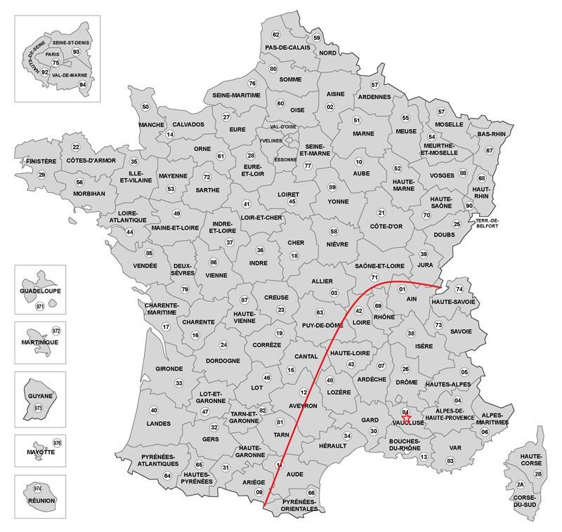 carte zone d'intervention société vertik travaux acrobatiques